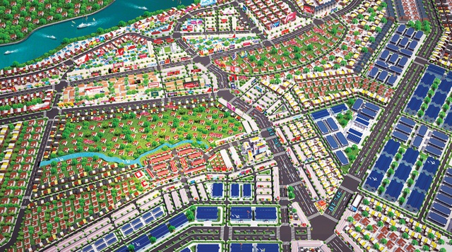 Phối cảnh dự án New Town 8 tọa lạc ngay trung tâm thị xã Tân Uyên - nơi có hệ thống giao thông kết nối liên vùng thông suốt.