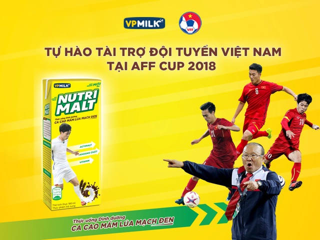 Uống NUTRIMALT, nạp năng lượng cùng bứt phá với Đội tuyển bóng đá Việt Nam tại AFF Cup 2018 các bạn nhé.