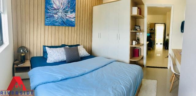 Căn hộ 1 phòng ngủ được thiết kế tinh tế, hiện đại phù hợp với nhu cầu an cư lẫn cho thuê