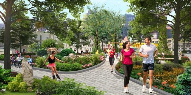 Eco Town Long Thành được quy hoạch nhiều mảng xanh đan xen.