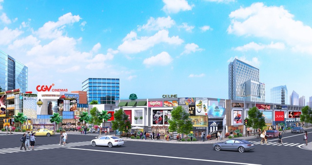 Phối cảnh một góc dự án New Times City tại khu vực trung tâm thị xã Tân Uyên
