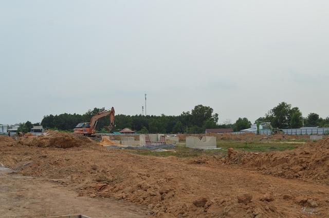 Hạ tầng dự án Eco Town Long Thành đang được thi công nhanh chóng.