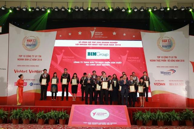 BIM Group đạt thứ hạng cao trong Top doanh nghiệp lợi nhuận tốt nhất Việt Nam năm 2018 - 2