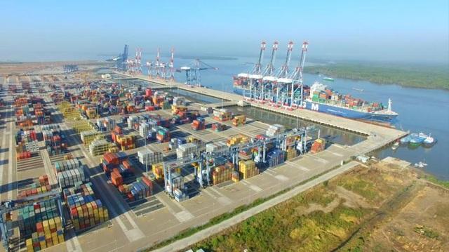 Cảng Cái Mép – Thị Vải với tổng diện tích lên tới 48 hecta