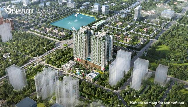 Thiết kế toà nhà được lấy ý tưởng từ một cây đại thụ, tạo điểm nhấn cảnh quan cho khu đô thị