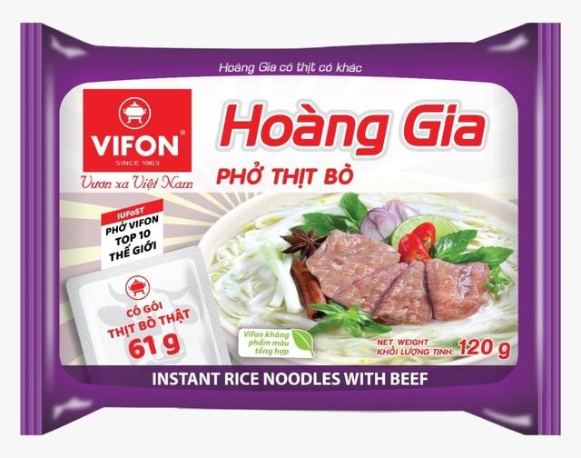 VIFON là doanh nghiệp đầu tiên sản xuất phở và đưa thịt thật vào sản phẩm ăn liền.