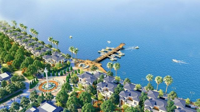 Shop villas chiếm ưu thế thương mại khi nằm trong quần thể biệt thự biển đẳng cấp bậc nhất Hà Tiên