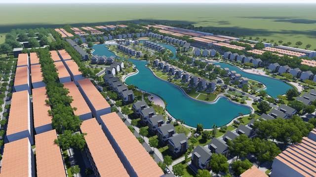 Villa New City Phố Nối được thiết kế 100% view hồ cảnh quan thơ mộng