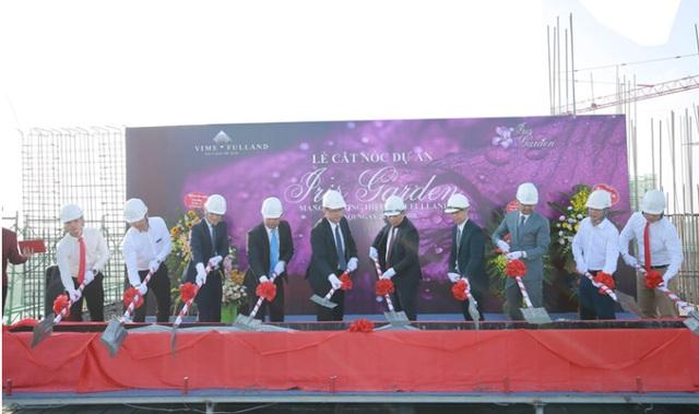 Lễ cất nóc tòa CT4 dự án Iris Garden sau 167 ngày thi công - Ảnh 3.
