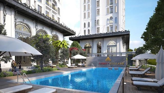 Hệ thống mái che khối đế tòa nhà chung cư cao tầng mang thương hiệu Vimefulland