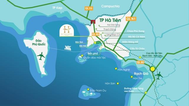 Vị thế đắc địa của dự án Ha Tien Venice Villas