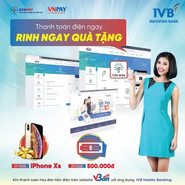 Giảm 50% khi thanh toán tiền điện qua Vban.vn bằng IVB Mobile Banking - Ảnh 1.