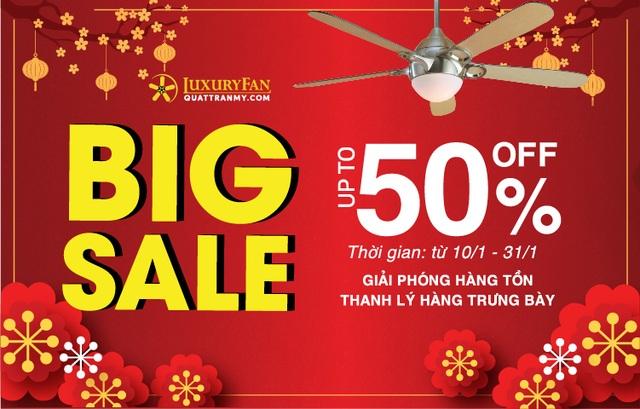 Nhận ngay ưu đãi lên tới 50% khi mua các sản phẩm quạt trần Mỹ tại Luxury Fan - Ảnh 1.