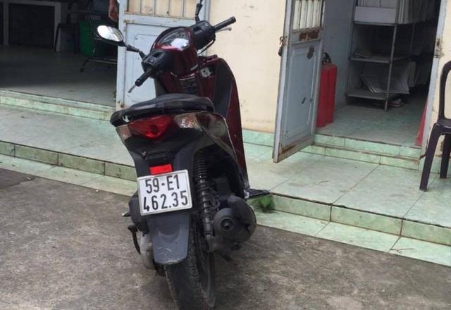 Chiếc xe máy của nạn nhân được thu hồi