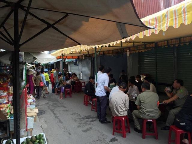 Khu vực chợ Tân Trụ nơi xảy ra vụ án mạng