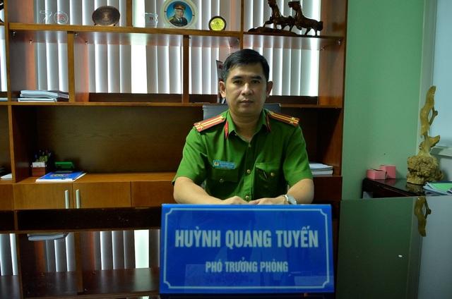Trung tá Huỳnh Quang Tuyến – Phó trưởng phòng Tham mưu Cảnh sát PCCC TPHCM