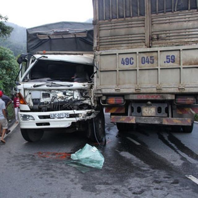 Hiện trường vụ tai nạn (ảnh: Mạnh Quân)