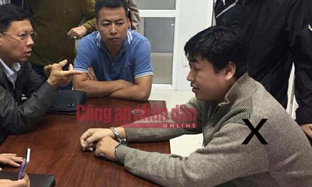 Công an lấy lời khai nghi can Nguyễn Hoàng Tâm (Ảnh: CAND)