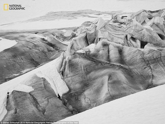Một số ngọn núi ở Thụy Sỹ được phủ lớp vải mềm mại, ngăn chúng không bị những tác động xấu của việc nóng lên toàn cầu.