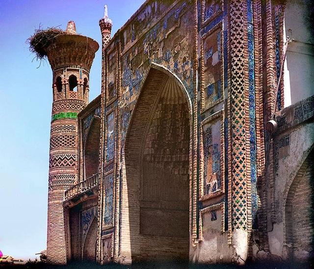 Một nhà thờ Hồi giáo ở Bukhara. Ảnh chụp năm 1911.