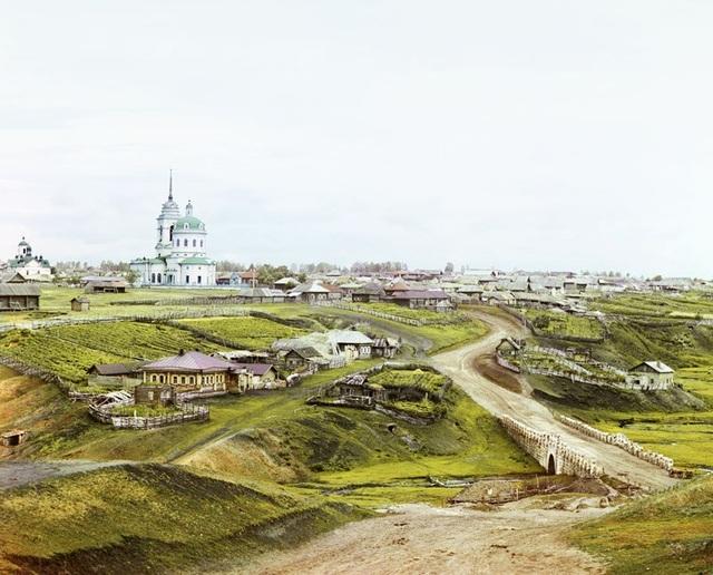 Ngôi làng của Kolchedan ở vùng núi Ural. Ảnh chụp năm 1912.