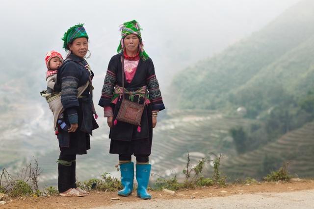 Cô cũng có dịp tới vùng núi cao của Việt Nam