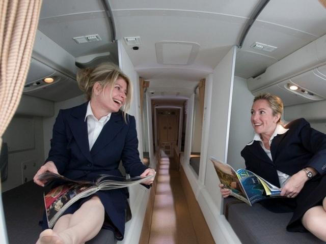 Căn phòng bí mật trên máy bay là nơi dành cho tiếp viên phi hành đoàn nghỉ ngơi