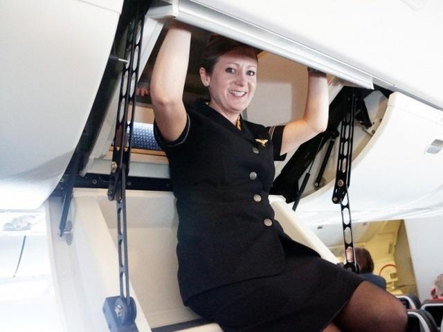 Các tiếp viên sẽ nghỉ ngơi ở đây với chuyến bay dài