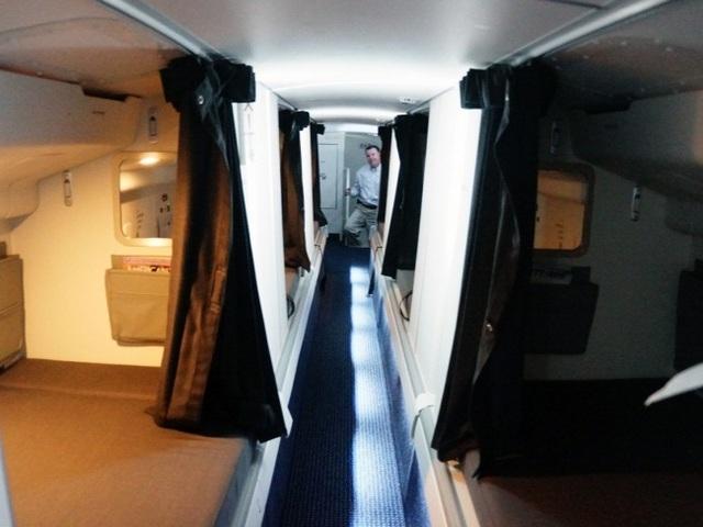 Phòng được chia thành các khoang nhỏ với không gian riêng tư