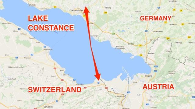 Đường bay quốc tế ngắn nhất thế giới chỉ kéo dài 8 phút, nối giữa hai bên hồ ở Thụy Sỹ và Đức