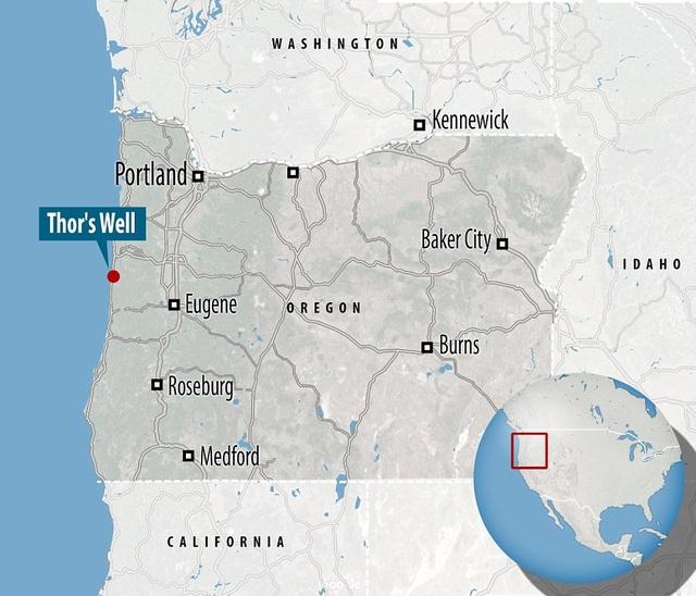 Vị trí của giếng thần Sấm trên bản đồ