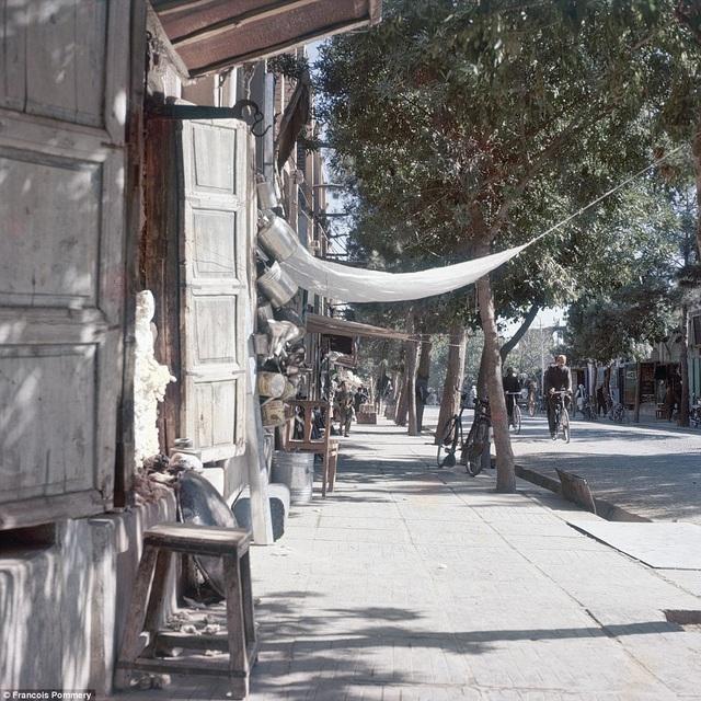 Quang cảnh thanh bình và tĩnh lặng ở một góc phố tại thủ đô Kabul.