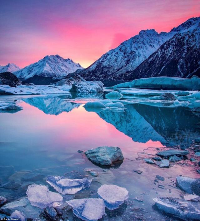 Cảnh chụp tại hồ Tasman Glacier