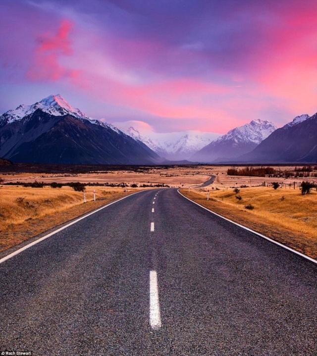 Đường vào công viên quốc gia Mount Cook