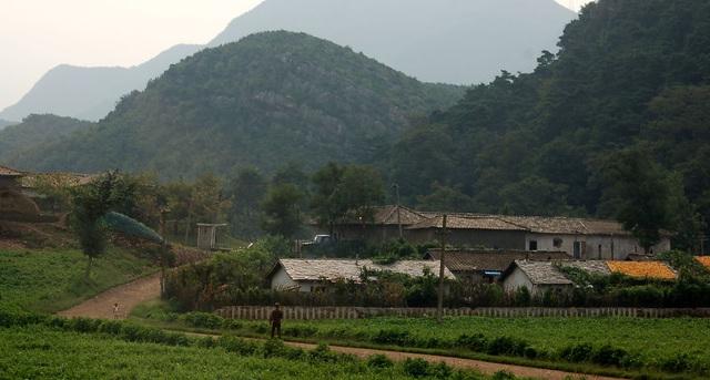 Khung cảnh thanh bình tại một miền quê ở Triều Tiên.