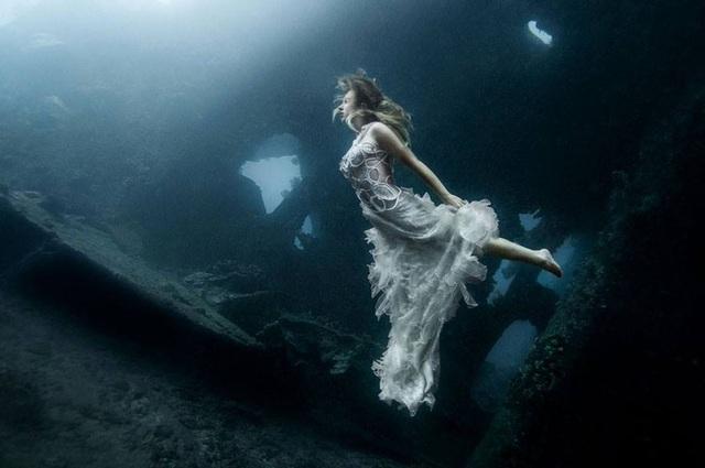 Trước đó, nhiếp ảnh gia người Canada từng gây sốt với bộ ảnh chụp dưới nước