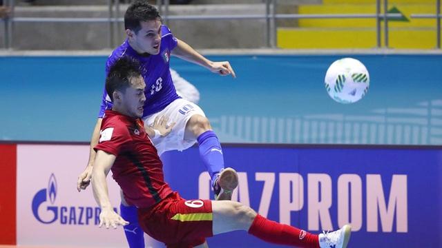 Đội tuyển futsal Việt Nam đã chơi rất tốt trước Italia