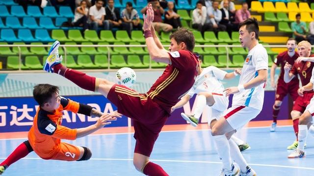 Đội tuyển futsal Việt Nam kết thúc thành trình của mình tại vòng 1/8, sau trận thua Nga