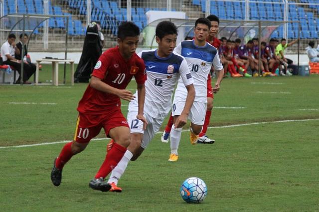U16 Việt Nam từng đánh bại Kyrgyzstan tại vòng bảng