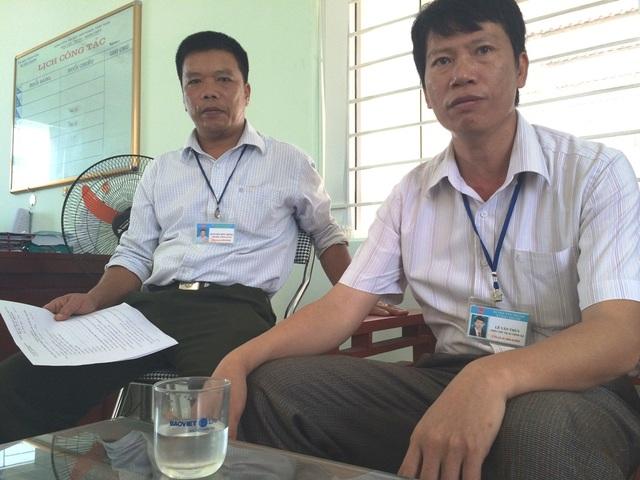 Ông Lê Văn Thùy - PCT UBND xã Bắc Thành: Việc UBND chỉ đạo để cho công an thu tiền các chủ máy là nhằm đảm bảo vấn đề an ninh trên địa bàn....
