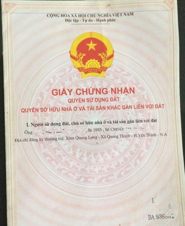 Để làm một chiếc sổ đỏ, người dân xã Quang Thành đã phải bỏ ra từ 1-7 triệu đồng cho cán bộ địa chính xã.