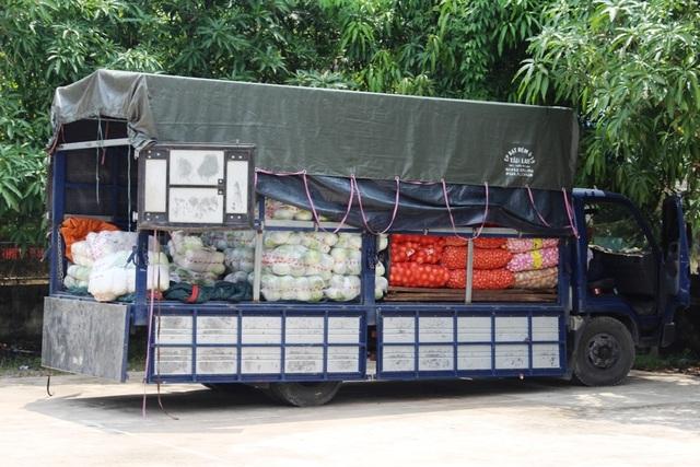 Chiếc xe tải bị bắt giữ.