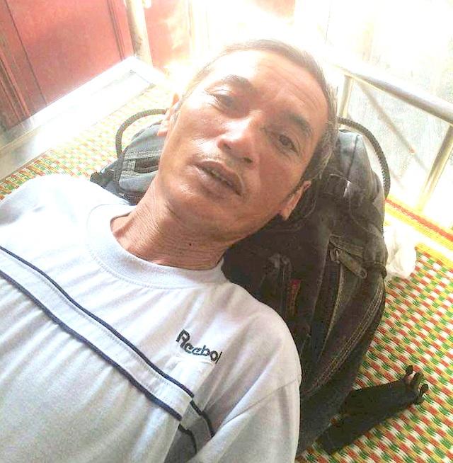 Ông Nguyễn Văn Thành đang nằm điều trị tại bệnh viện (Ảnh. NVCC)