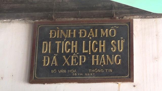 Đình Đại Mỗ đã được xếp hạng Di tích Lịch sử quốc gia từ năm 1993.