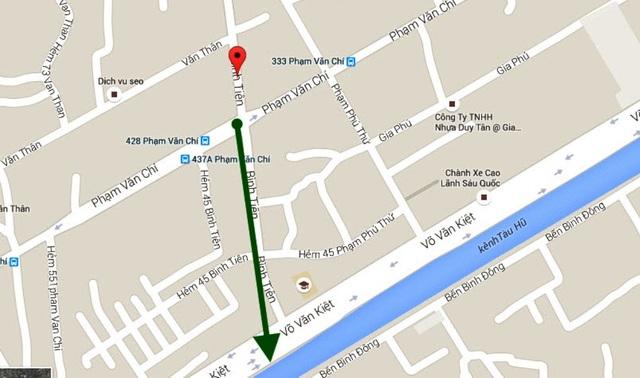 Dự án bắt đầu từ nút giao đường Bình Tiên - Phạm Văn Chí hiện hữu (quận 6) đi theo đường Bình Tiên rồi vượt qua đường Võ Văn Kiệt, giao với đường Tạ Quang Bửu