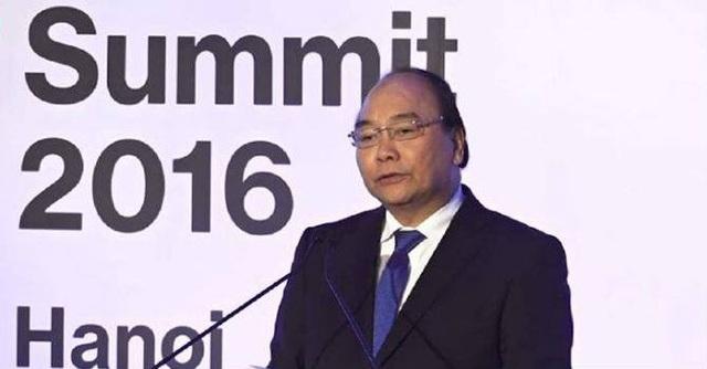 Thủ tướng Nguyễn Xuân Phúc phát biểu tại Hội nghị Thượng đỉnh kinh doanh ASEAN Bloomberg 2016.