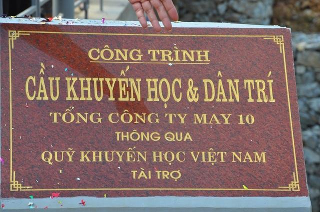 Cây cầu hứa hẹn mang lại nhiều sự đổi thay cho quê hương Yên Thịnh.