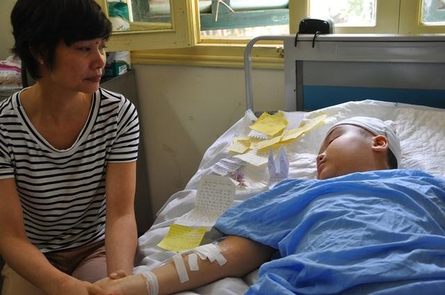Con gái đầu của chị bị hội chứng Down nên mọi hi vọng chị dồn cả vào cháu Thành.