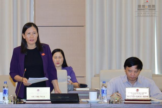 Bà Lê Thị Nga - Chủ nhiệm Ủy ban Tư pháp (Ảnh: Quochoi.vn)