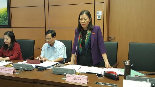 Chủ nhiệm Ủy ban Tư pháp của Quốc hội Lê Thị Nga (Ảnh: Thế Kha).